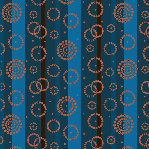 Ring Stripe 6702-63 Turquoise