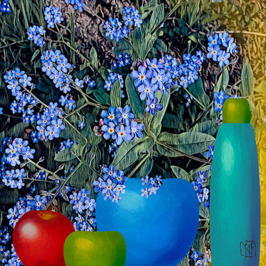 6_5_2020 Forget-Me-Nots with Apple and V