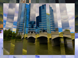 Blue Building, Yellow Rapids