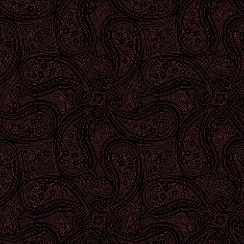 Simple Paisley 5622 Black