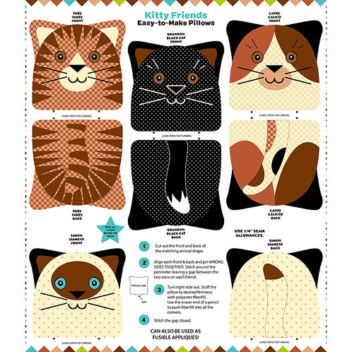 9967P-Kitty Friends Panel