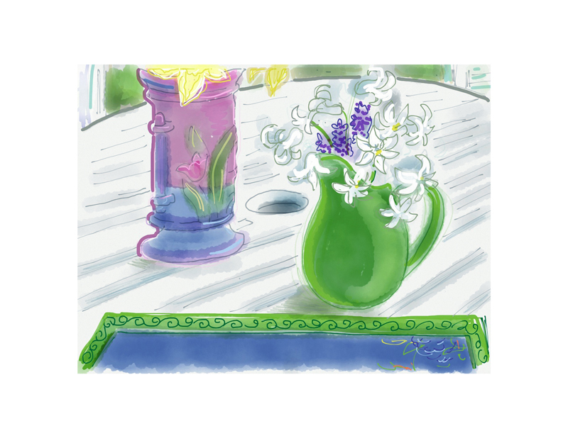 Little Spring Vases and Flowers