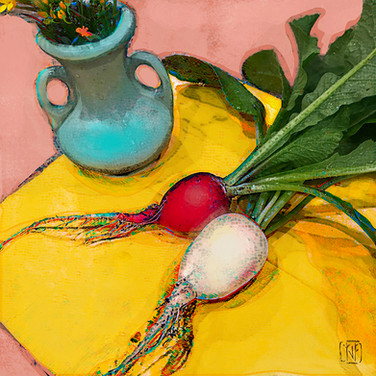 5_25_2020 Easter Egg Radishes, Turquoise