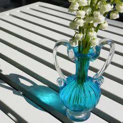Blue Vase, White Lilies