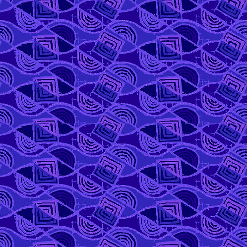 A La Mode Rolling Squares 6710-85 Purple