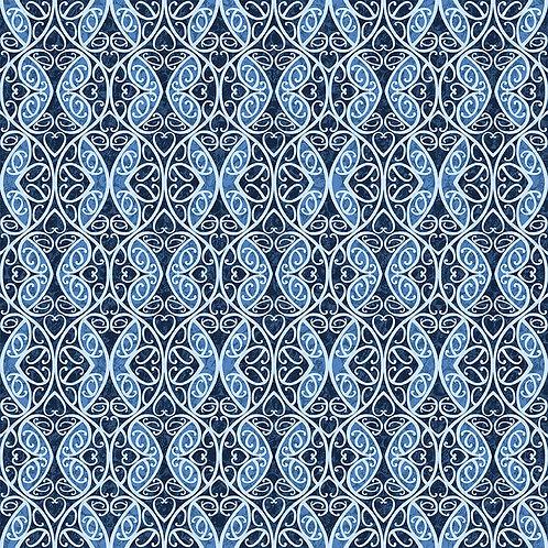9739-77 Maori Butterflies Deep Blue