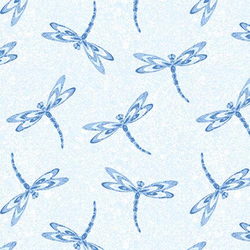 9741-70 Dragonflies Light Blue