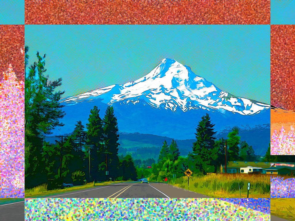 Approaching Mt. Hood