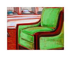 Green Lobby Chair