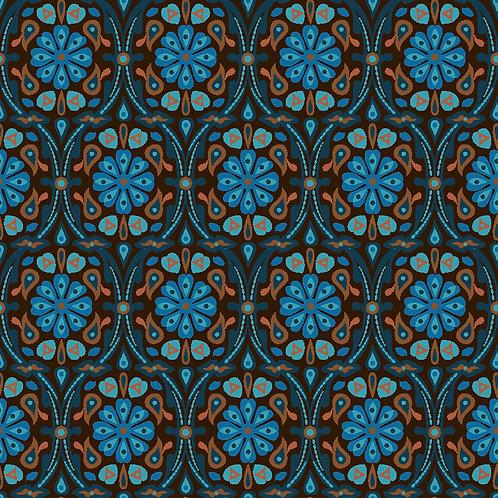 Neo Damask 6701-63 Turquoise