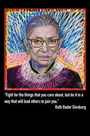 Ruth Bader Ginsburg Postcard Front