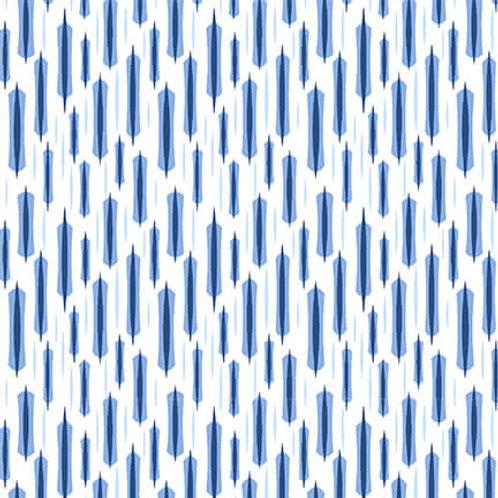 9740-70 Longstitch Blue on White