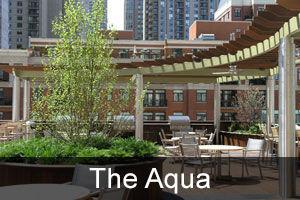 Roofdeck landscape at the radisson blu aqua hotel in chicago