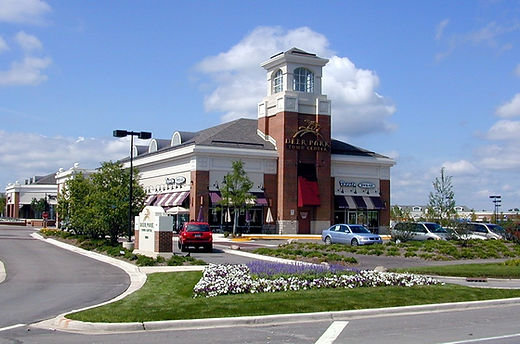 Front elly landscaped at Deer Park Town Centerntrance beautifu