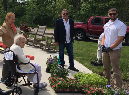 Countryside donates flowers and educates residents on how to plant them at The Arboria