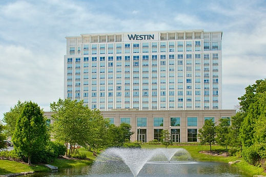 Beautiful landscape in front of the westin chicago north shore