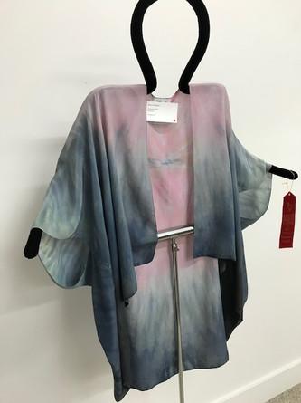 """Moonlit moth""- hand dyed wrap"