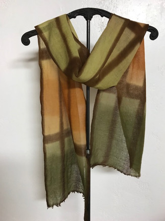 Hand dyed scarf