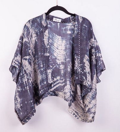 Hand dyed shibori wrap