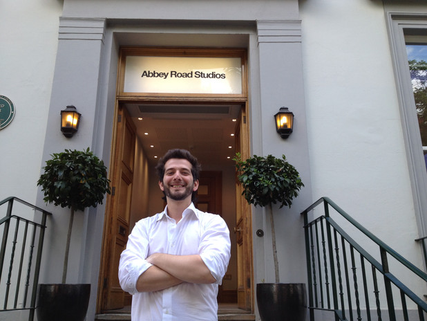 At the Abbey Road Entrance.JPG
