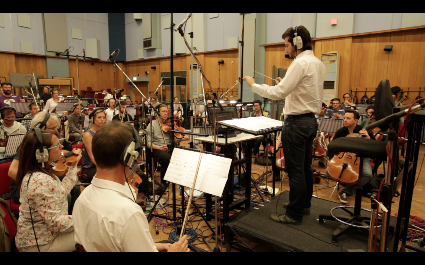 Conducting at Abbey Road Studios