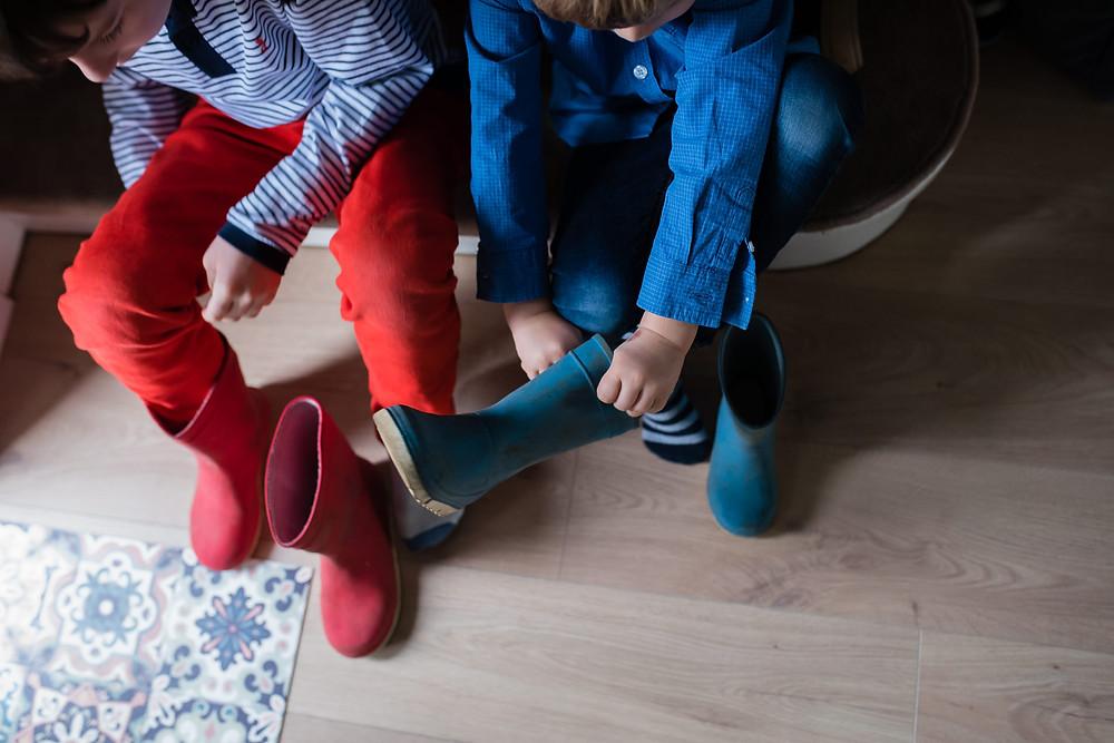 Documentaire familial - Mettre des bottes de pluie