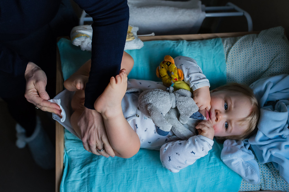 La magie du quotidien - Le change de bébé