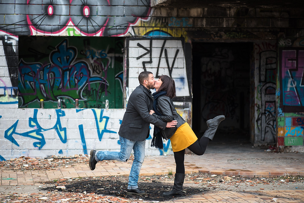 Photo rigolotes de couple en URBEX
