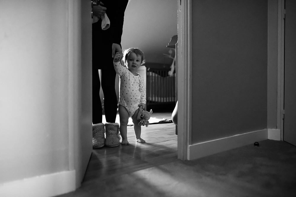 Reportage photo de famille - Le réveil des enfants