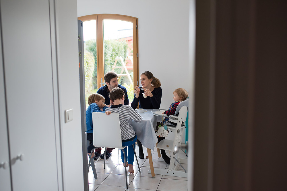 Moment du quotidien - Repas en famille