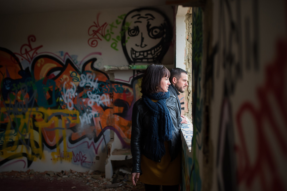 Photo de couple dans lieu URBEX