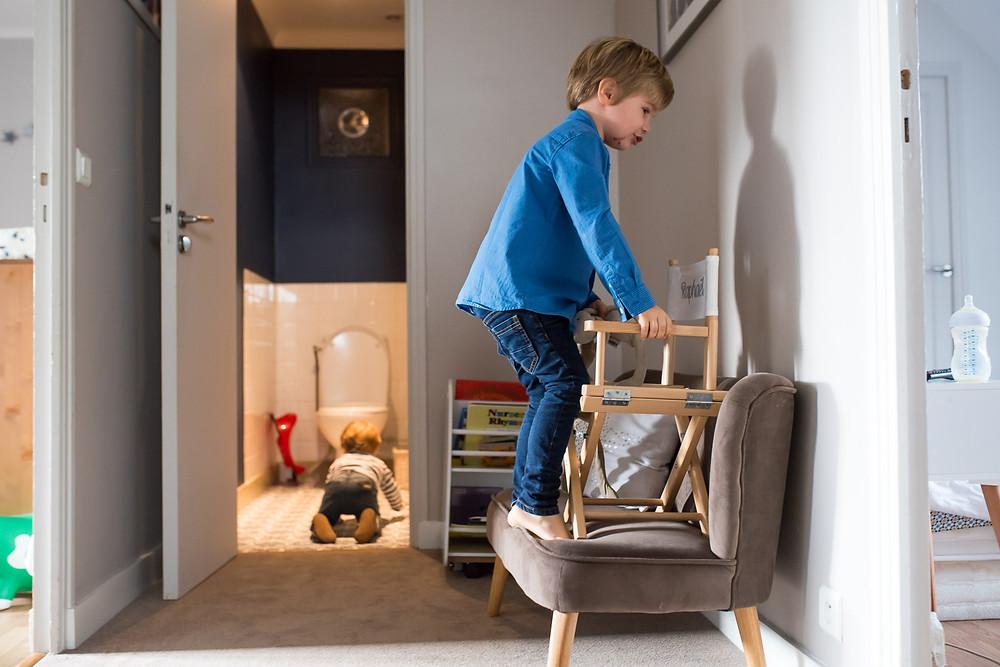 Moments du quotidien en photos - Les bêtises des enfants