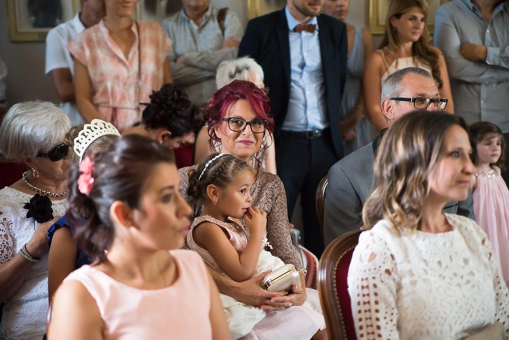 la fierté de la maman de la mariée