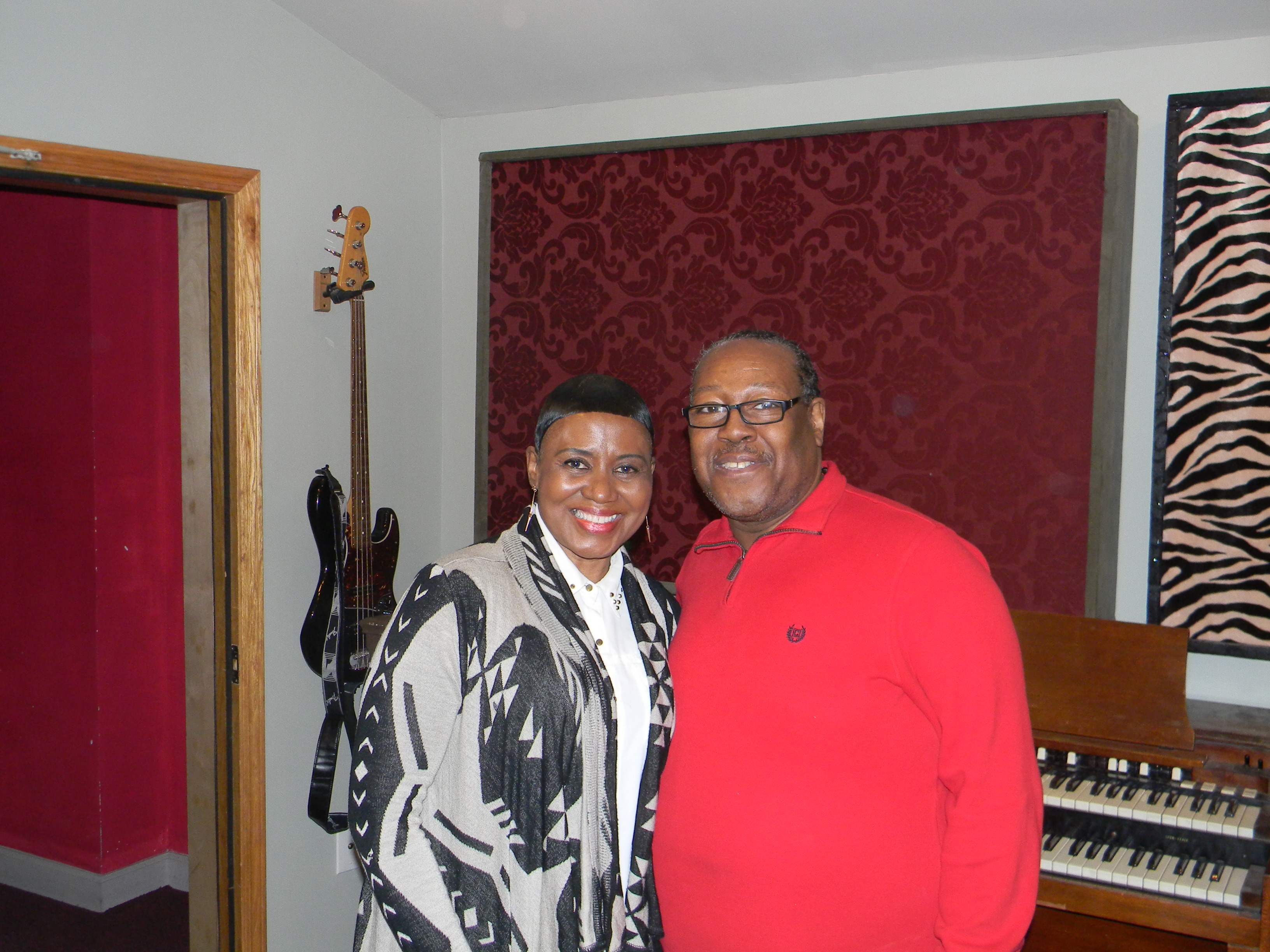 PJ WILLIS WITH ROSE REED (JIMMY REED'S DAUGHTER)