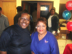 PJ WILLIS WITH WOODIE McNEAL, THE QUEEN OF FEMALE STEPPER DJs IN CHICAGO