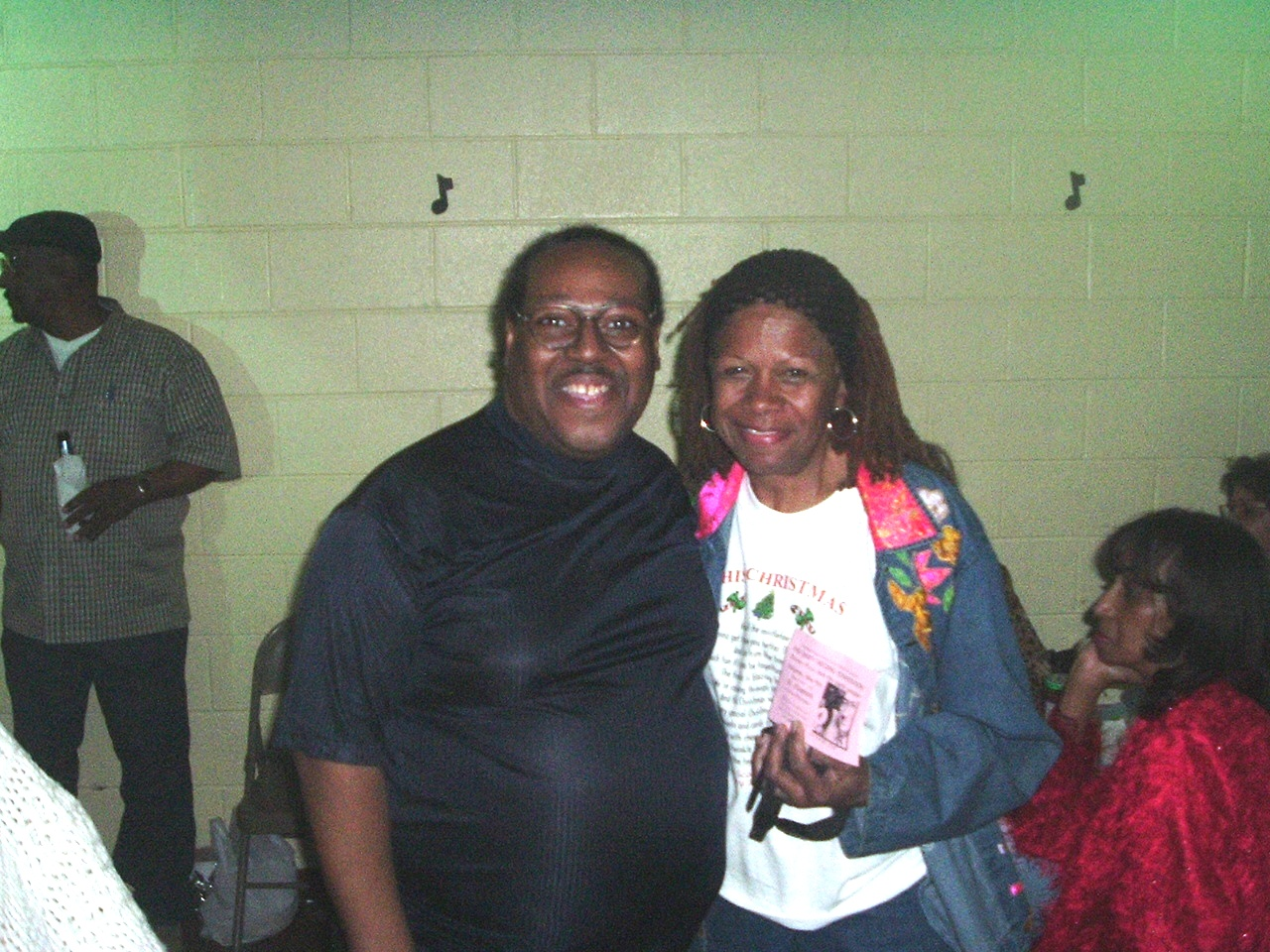 PJ WILLIS WITH NADINE McKINNER ( SHE CO-WROTE THIS CHRISTMAS WITH DONNY HATHAWAY )