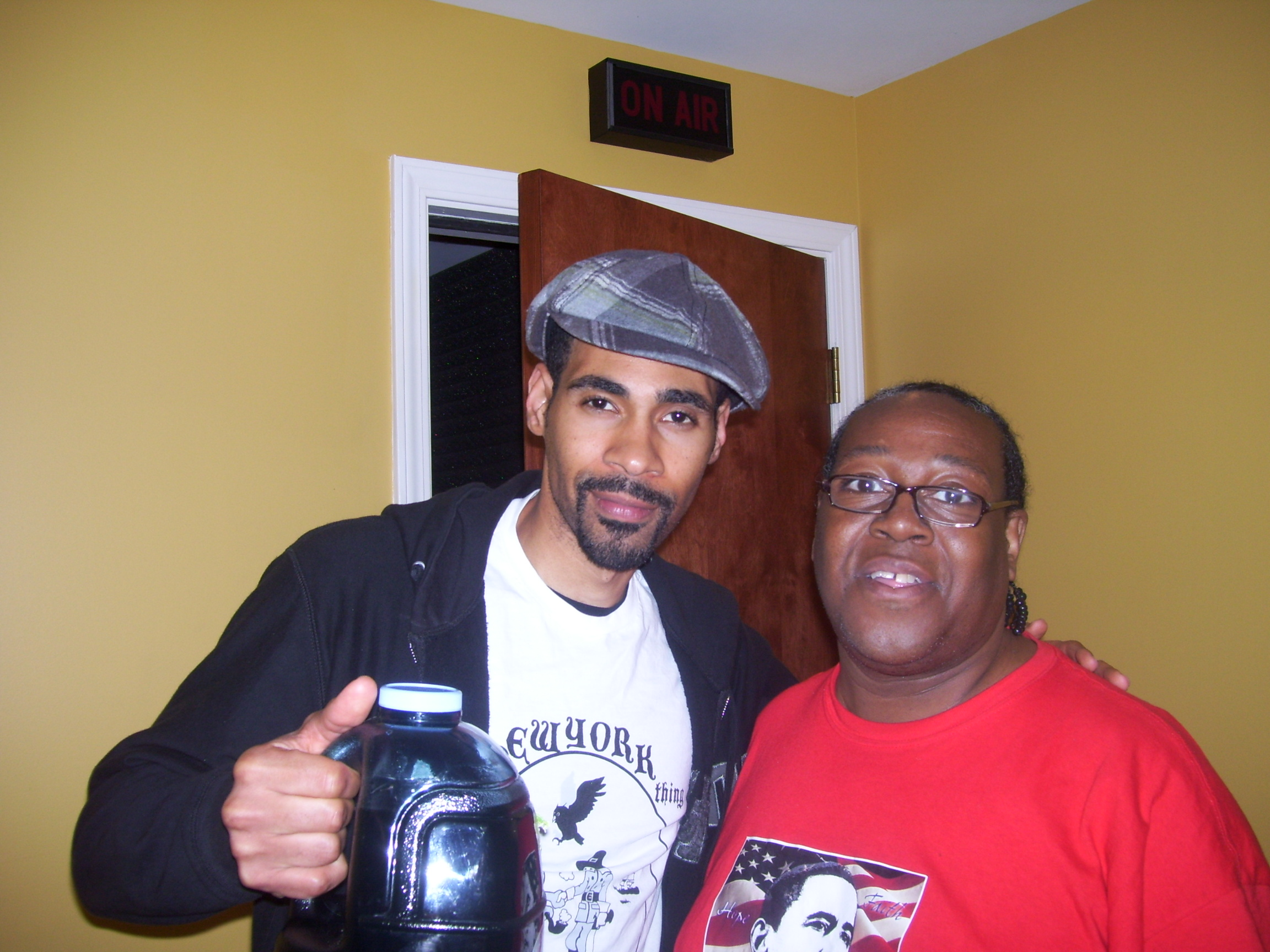 PJ WILLIS WITH ACTOR MEL JACKSON