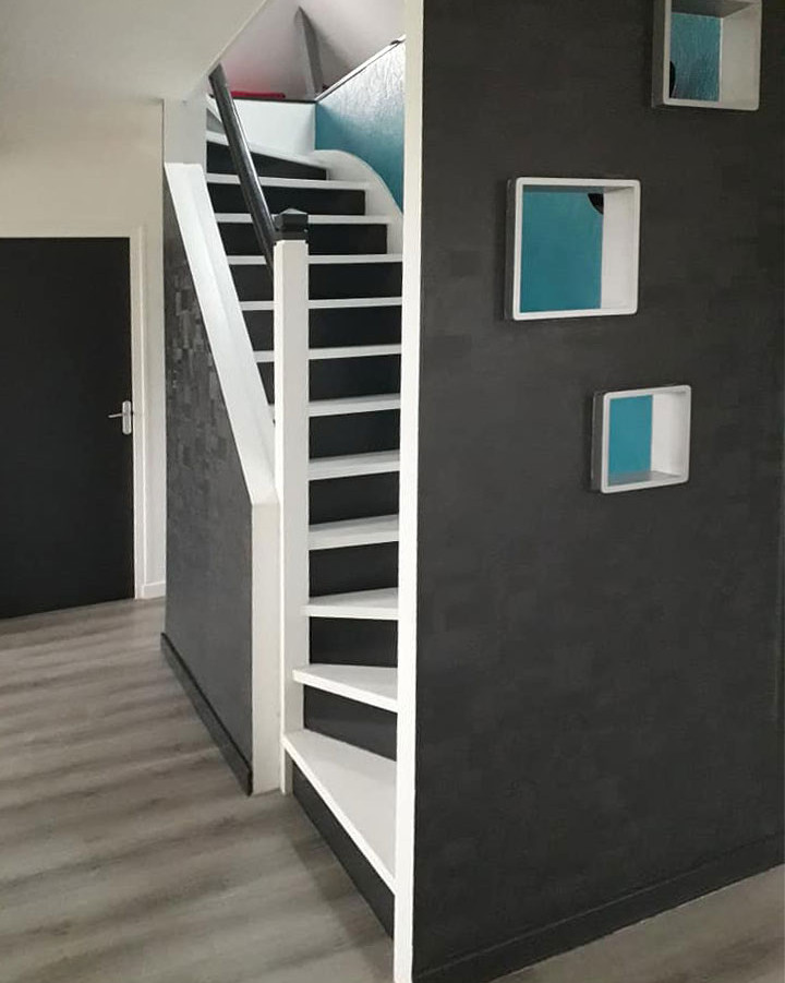 Relooking escalier et murs.
