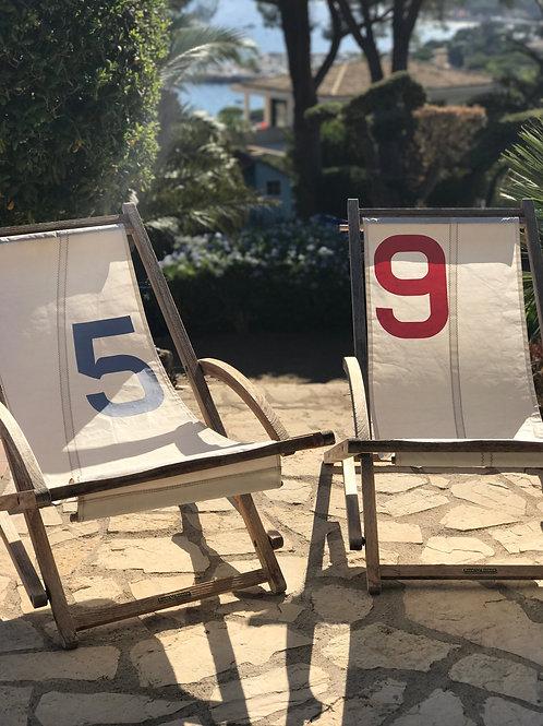 Les toiles des chaises longues de Blaise
