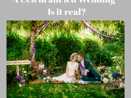 A Celebrant Led Wedding - Not the real thing?