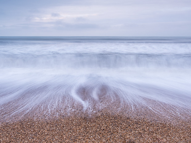 A long exposure of the outgoing tide at Barton on Sea, Hampshire (SWP03697)