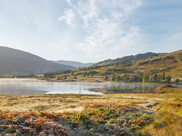 A frosty morning at Loch Clair in Torridon, Scotland
