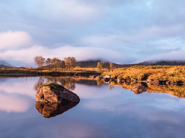 Sunrise colours over Loch Ba in Glencoe, Scotland (SWP_1409)