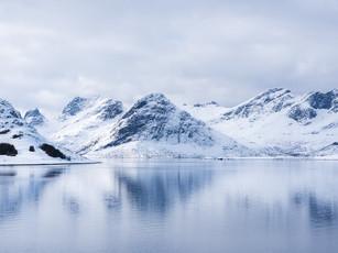 Winter reflections in a fjord on the Lofoten Islands (DSC_2596)