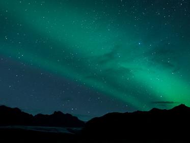 The northern lights dancing over Skaftafell National Park, Iceland (DSC_4486)