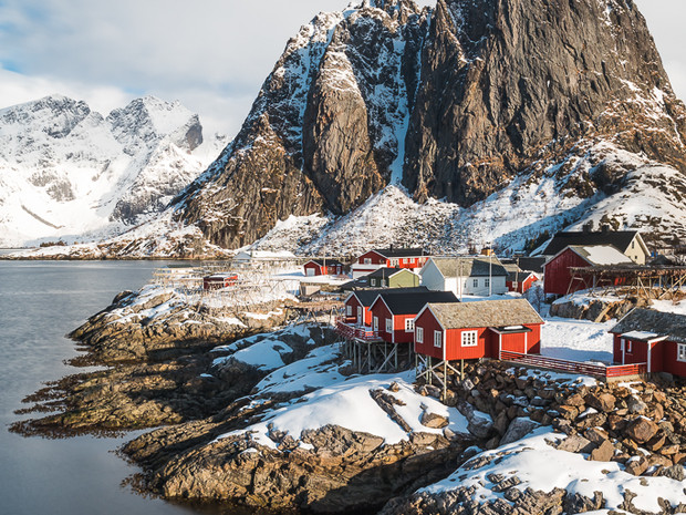 The red rorbuers of Hamnoy, the Lofoten Islands (DSC_2584)