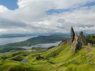 Cloud breaking over the Old Man of Storr on the Isle of Skye (DSC_7778)