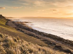 A golden sunset at Barton on Sea, Hampshire (DSC_1051)