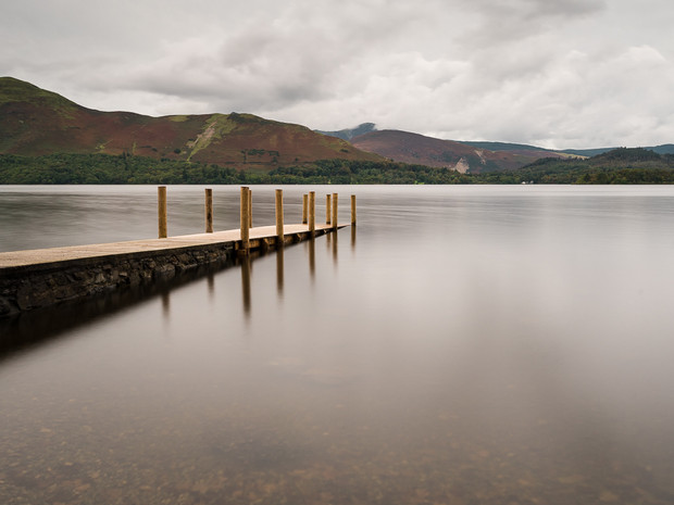 A long exposure of Ashness jetty on Derwent Water, the Lake District (SWP_1758)