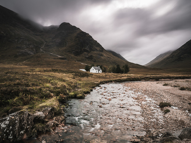An incoming storm over the White Cottage in Glencoe, Scotland (SWP_1507)